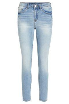 VILA Beskurna Straight Fit-jeans Kvinna Blå(108807566)