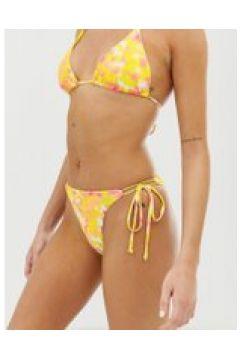 Bershka - Triangel-Bikinihose mit Batikmuster - Weiß(92460049)