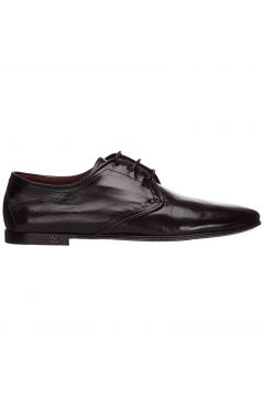 Men's classic leather lace up laced formal shoes derby(118299392)