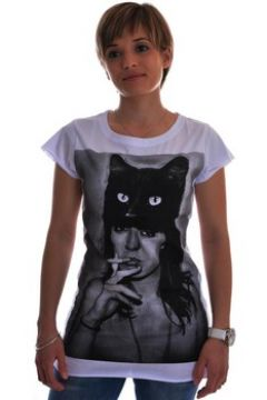 T-shirt Spital Fields London black cat coton(115461586)