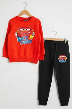 Çocuk Erkek Çocuk Arabalar Baskılı Sweatshirt ve Eşofman Altı(126227539)