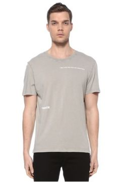 Zadig&Voltaire Erkek Gri Baskılı T-shirt M EU(116665601)