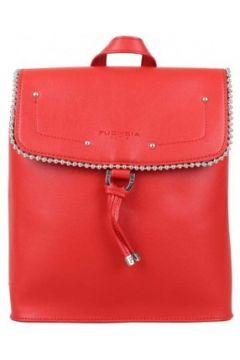 Sac à dos Fuchsia Sac à dos à rabat déco perle reliée Botton Rouge(101588018)