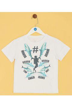 Nebbati B&G Beyaz Erkek Çocuk T-Shirt(114005889)