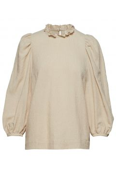 Carly Puff Sleeve Top Langärmliges T-Shirt Beige MAYLA STOCKHOLM(114153500)