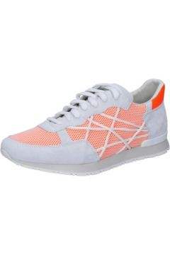 Baskets L4k3 sneakers blanc daim orange textile BZ443(88515298)
