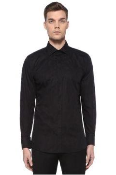 Dolce&Gabbana Erkek Gold Siyah Modern Yaka Etnik Desenli Gömlek 39 IT(109109716)