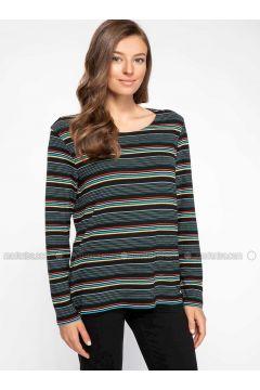 Black - T-Shirt - DeFacto(110325326)