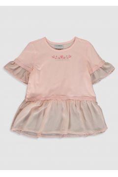 Çocuk Kız Çocuk Baskılı Pamuklu Tişört(123833622)