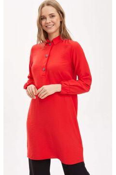 DeFacto Kadın Gömlek Yakalı Relax Fit Tunik(119058835)