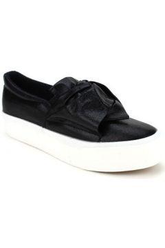Chaussures Cendriyon Baskets Noir Chaussures Femme(115425116)