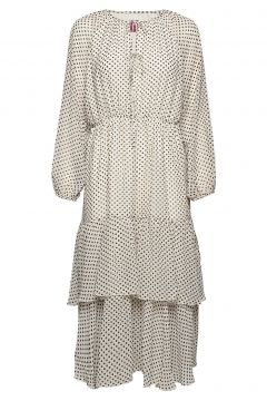 Laurene Dots Kleid Knielang Creme LINE OF OSLO(114163905)