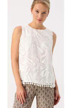 Pierre Cardin Beyaz Pompom Detaylı Gömlek(123949002)