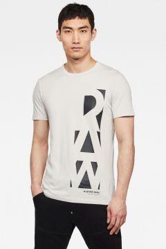 G-Star RAW Men Vertical Raw GR Slim T-Shirt Grey(118171396)