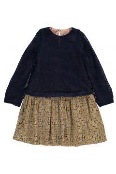 Kleid aus zwei verschiedenen Materialien Duo(113612275)
