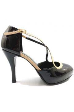 Chaussures escarpins Guido Sgariglia escarpins noir cuir verni beige ay111(115443236)