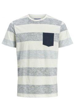 JACK & JONES Randig T-shirt Man Blå(111091133)
