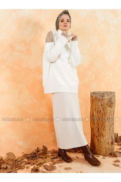 Cream - Unlined - Skirt - Muni Muni(110330527)