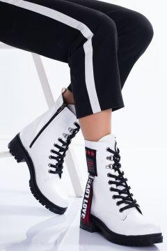 Ayakkabı Frekansı Haven Bot Beyaz Rugan(110942819)