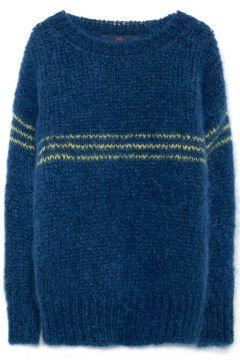 Pullover Oversize aus gestreiftem Mohair Bull(113612395)