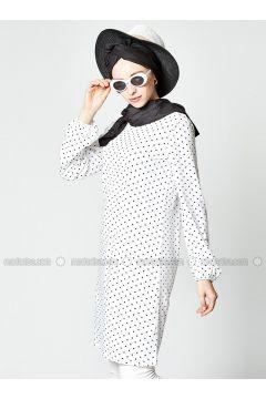White - Polka Dot - Tunic - Gippe Collection(110313426)