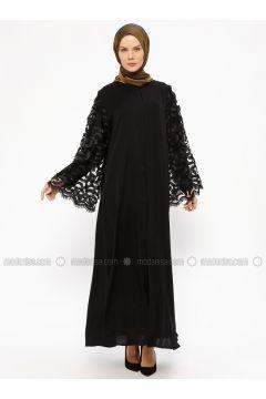 Black - Unlined - Crew neck - Abaya - AL SHEIKHA(110313614)