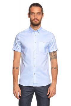 Ted Baker-Ted Baker Kısa Kollu Mavi Gömlek(118835229)