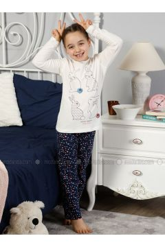 Ecru - Crew neck - Multi - Kids Pijamas - Elitol Pijama(110313277)