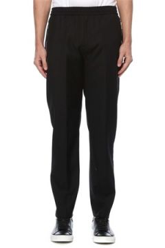 Givenchy Erkek Antrasit Logolu Yün Pantolon Siyah 46 IT(126468836)