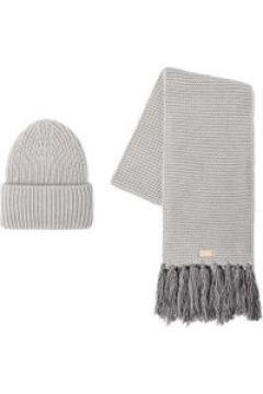 UGG Knit Cuff Chapeaux et Écharpes pour Femmes en Light Grey   Mélange D'Acrylique(112239744)