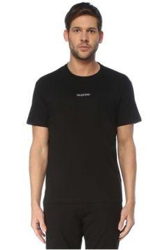 Valentino Erkek Siyah Kontrast Logo Detaylı T-shirt S EU(127364736)