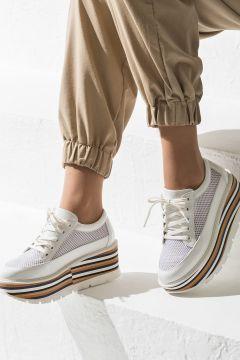 Elle Shoes BELL Beyaz Kadın Sneaker(116849828)