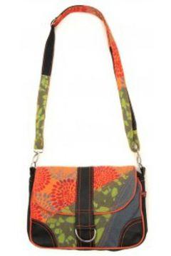 Sac Bandouliere Bamboo\'s Fashion Petit Sac Besace New Dehli GN-144 Orange/Vert(115471628)