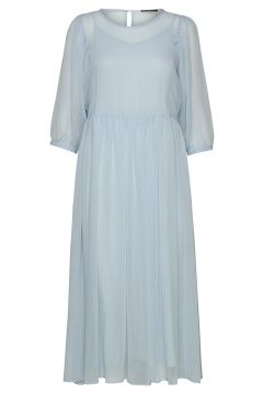 Cloudy Lux Dress Kleid Knielang Blau BRUUNS BAZAAR(116997407)