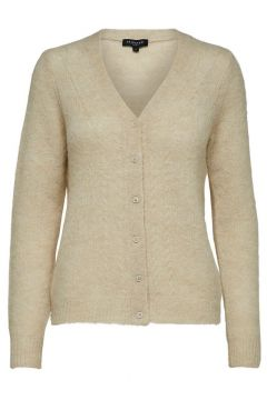 SELECTED Décolleté En V - Cardigan En Maille Women beige(108557629)