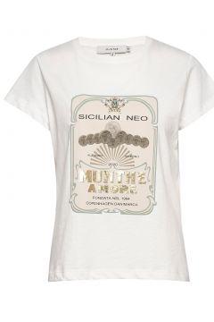 Mazus T-Shirt Top Weiß MUNTHE(116778898)