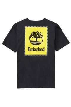 Timberland Erkek SS Box Logo Graphic Siyah Baskılı T-shirt M EU(113464623)