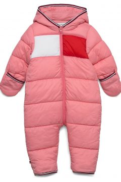 Baby Flag Skisuit Outerwear Thermo Outerwear Thermo Suits Pink TOMMY HILFIGER(117870100)