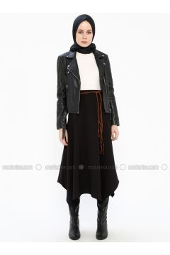 Black - Unlined - Skirt - İroni(110338993)
