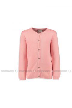 Pink - Crew neck - Age 8-12 Outerwear - LC WAIKIKI(110342548)