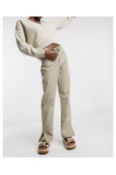 Waven - Jeans dritti con spacco laterale sabbia-Beige(121066062)