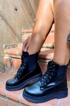İnan Ayakkabı Kadın Siyah Kenardan Lastikli Bot(120588366)