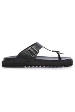 KEMAL TANCA Hakiki Deri Siyah Erkek Terlik Ayakkabı(124055531)