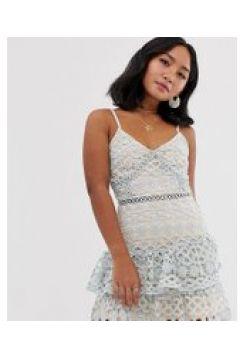Parisian Petite - Gestuftes Camisole-Kleid mit Spitze - Weiß(95029829)