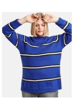Sweter w paski Niebieski 48/XL(115894496)