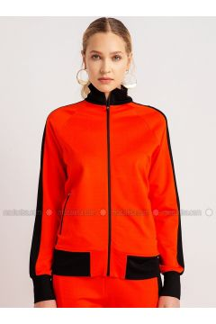 Orange - Crew neck - Tracksuit Top - NG Style(110341151)