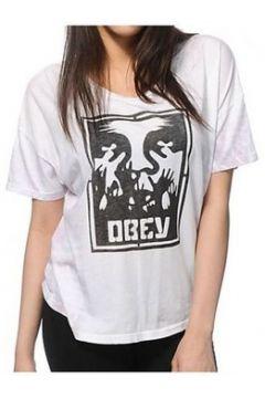 T-shirt Obey T-Shirt Hold Up Blanc Nirvana(115434124)
