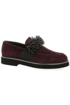 Chaussures Mitica Mocassins cuir velours bdeaux(127878799)