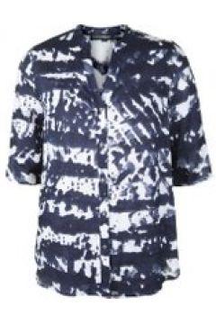 Bluse mit Mao-Kragen Doris Streich marine(111502535)