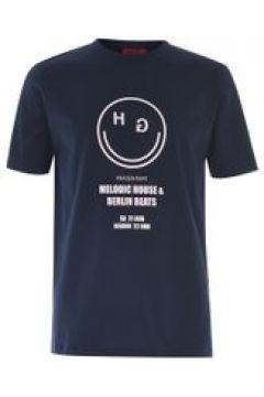 Hugo Hugo Delodic Smiley T Shirt - 405 Dk Blue(104970505)